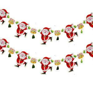 2pcs-lot-Free-Shipping-Hot-Sale-Christmas-decorations-santa-claus-Decoration-strip-windows-doors-walls-Ornament